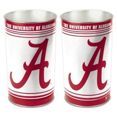 Do you have a waste paper basket with a college logo for your workspace? Even the garbage can go out in style.