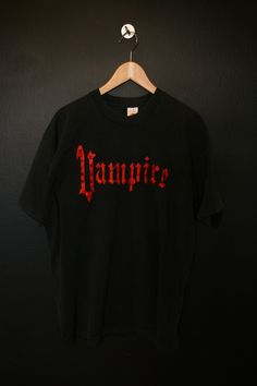 Vampire 1990s vintage Tshirt, size XXL. Measurements: Pit to pit: 22.5 Back of collar to bottom hem: 30.5 This shirt is in great vintage condition with some fading throughout and minimal cracking on the graphic. We do our best to describe all items. All shirts are sold in As-Is condition. Pleas