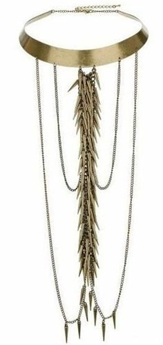 Heavy Alternative Rocker Chic Tassels Necklace