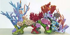 38 x 13 x 31 DIY reef inserts are made of high quality Eco-friendly materials that will last many years with very little up keep. Fish Tank Terrarium, Terrarium Scene, Mermaid Under The Sea, The Little Mermaid, Polymer Clay Creations, Polymer Clay Art, Coral Reef Art, Sea Plants, Undersea World