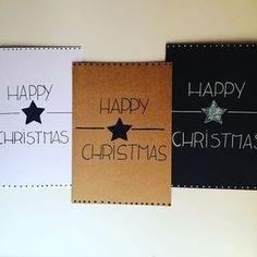 Welke kaart kies jij? Geef ons nog snel je wensen door bij de bestelling! #zwartwit #kraft #kerstkaarten #christmas #handmade #handgemaakt #kaarten #postisveelleuker #kerst #handlettering
