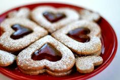 Valentine Linzer Cookies on Simply Recipes Linzer Cookies, Fun Cookies, Valentine Cookies, Heart Cookies, Eggnog Cookies, Valentine Desserts, Valentines, Simply Recipes, Great Recipes