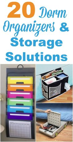 Dorm rooms may be a small space, but you can still put a lot of your needed stuff in there when you find all those nooks and crannies. Here's 20 dorm organizers and storage solutions to maximize the space you've got. #ad
