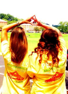Squirrels, pearls, and Alpha Gam girls <3