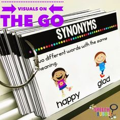 Classroom or home visuals for language development at your finger tips! As a teacher, never feel unprepared when a student needs some extra support! These on the go, no prep, visuals are a creative idea for practicing speech skills whenever and wherever!