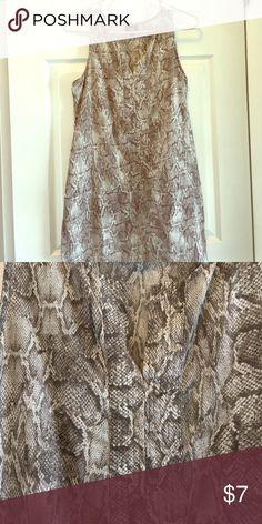 Snakeskin print dress Tank top dress Mossimo Supply Co Dresses Midi