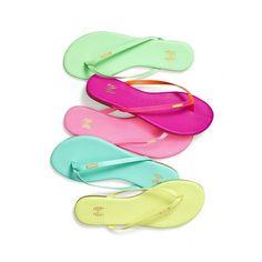 Victoria's Secret Flexi Flip-flop ($38) ❤ liked on Polyvore