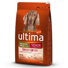 Animalerie  Ultima Medium / Maxi Senior poulet pour chien  2 x 75 kg