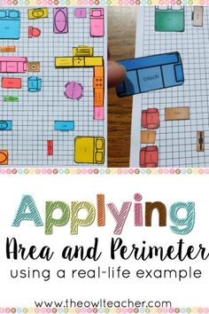Superstars Which Are Helping Individuals Overseas Teaching Area Is Engaging And Authentic With This Hands-On Applied Math Activity Students Arrange Furniture To Find The Area And Perimeter Of Their House. Fourth Grade Math, Third Grade Math, Grade 3, Sixth Grade, Math Resources, Math Activities, Math Games, Formation Continue, Area And Perimeter