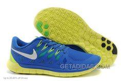 http://www.getadidas.com/nike-men-free-50-blue-green-running-shoes-discount.html NIKE MEN FREE 5.0 BLUE GREEN RUNNING SHOES DISCOUNT Only $75.00 , Free Shipping!