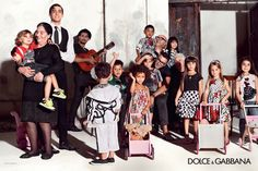 Domenico Dolce and Stefano Gabbana are portrayed together with a group of children in the Spring Summer 2015 children's wear advertising campaign. The choice to be part of the images is a show of affection to all the children of the world and a sign of trust in the new generations that represent the future. The images were shot by an assistant of Domenico Dolce, following the creative directions of the designers. #DGFAMILY #dgbambino #dolcegabbana www.dolcegabbana.com