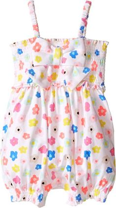 Kate Spade New York Kids Baby Girl's Romper (Infant) Faye Floral Baby One Piece…