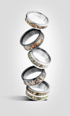 His Mossy Oak Camouflage Wedding Band