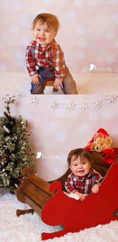 "Christmas Holiday Photos featuring ""Peaches & Cream"" Photo Backdrop from Backdrop Express. Photos by FlutterBy Photography."