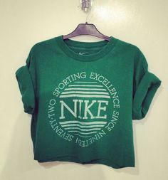 Vintage Nike Crop sweater  id die for something like this  could I pull this off?