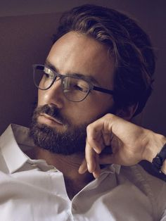 Christopher Westergaard - I want a make-up guy to transform me into him. That gorgeous face, awesome beard and hair. I would add the specs too.