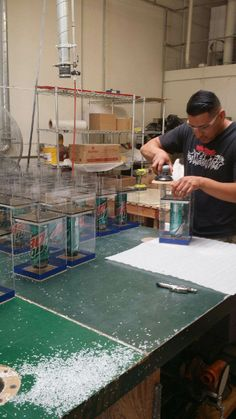One of our workers hard at work for #tacobell #planetplexi #acrylics #acryliclove
