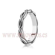 Anillo Pandora de plata de ley. Entrelazado. Coleccion Ring Upon Ring. Talla 52  REFERENCIA: PA190872_52  Fabricante: Pandora