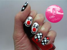 Red Nose Day Comic Relief Nails              http://ma-nails.co.uk/red-nose-day-nails/