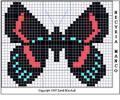 free crochet & cross stitch graphs ... Necyria Manco Butterfly Free ...