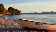 Sunset in Tucepi - Sunset in Tucepi. Vacation in Croatia - Makarska riviera