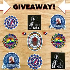 LOVE GIVEAWAY Win this Mongo Arts sticker pack along with 2 stealie heart pins plus a new unreleased surprise pin that we have yet to drop and a couple more heady prankster surprise goodies not shown in pic.  Winner chosen tomorrow! SIMPLE RULES 1. Must Follow @mongoarts & @thirdeyezebra 2. Tag 3 friends in comments below. 3. Repost if you want to spread the love but certainly not required.  That's it!  We will have our 4 year old scroll through and pick a random winner tomorrow same as we…