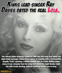 29 Bizarre True Stories Behind the Most Popular Music Ever Music Memes, Music Songs, My Music, Candy Darling, Ray Davies, Pictures Of Rocks, Most Popular Music, Major Crimes, Flute Sheet Music