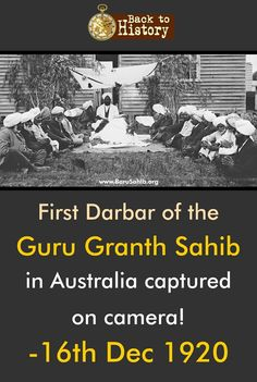 ‪ First Darbar of the Guru Granth Sahib in Australia captured on… Guru Granth Sahib Quotes, Sri Guru Granth Sahib, Gurbani Quotes, Best Quotes, Life Quotes, Gernal Knowledge, General Knowledge Facts, Guru Nanak Ji, Guru Pics