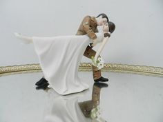 US Army Soldier Tan Camo  groom uniform dance dip Wedding Cake Topper on Etsy, $125.00