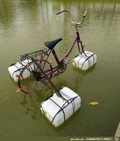 20 brilliant inventions created by creative people (New Pics) Pimp Your Bike, Old Bikes, Creative People, Survival Skills, Reuse, Kayaking, Diy And Crafts, Recycling, Funny Pictures