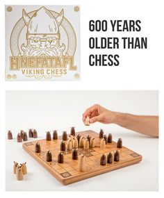 Hnefatafl came long before Chess. In fact, it's a game at least 600 years older than chess! It's a two-player strategy game with two objectives: the Attackers are trying to capture the King while the Vikings need to get their King to safety. A great gift idea for all ages!