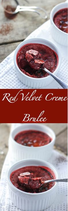 Smooth, creamy, chocolatey red velvet custard with a crisp, caramelized sugar top. This is one special dessert that's easier to make than you think!