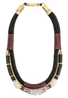 Lizzie Fortunato necklace in leather & gems