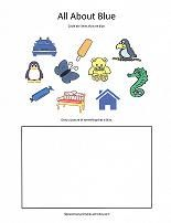 Fun worksheets and coloring pages for learning color names: printable color bingo game, cut and paste color matching, and lots more!