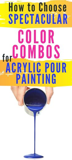 Learn How to Choose Spectacular Acrylic Paint Pouring Color Combos every time by using color theory! Acrylic Pouring Techniques, Acrylic Pouring Art, Acrylic Art, Acrylic Paintings, Painting Techniques, Pour Painting, Diy Painting, Knife Painting, Painting Abstract