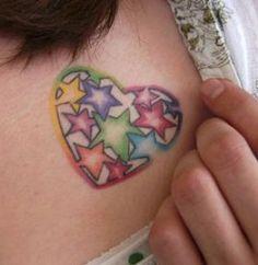 corazón + estrellas