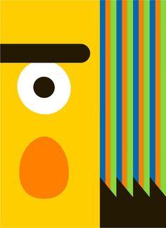 San Francisco-based designer Thom Pastrano created these wonderful minimalist posters of Sesame Street's Bert and Ernie.