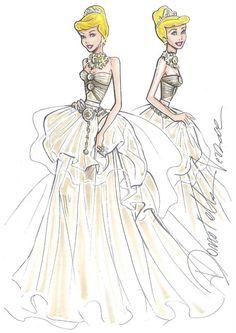 #Disney Princess Dresses Designer Sketch - #Cinderella