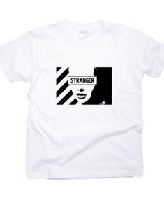 Stranger T-Shirt DAP, This t-shirt is Made To Order, one by one printed so we can control the quality. T Shirt Text Design, T Shirt World, T Shirt And Shorts, Apparel Design, Direct To Garment Printer, Stylish Men, Outfits For Teens, Shirt Style, Shirt Designs
