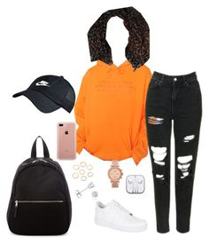 """""""Untitled #310"""" by kingrabia on Polyvore featuring Civil, Topshop, ASAP, NIKE, Belkin, FOSSIL, Madden Girl and Amanda Rose Collection"""