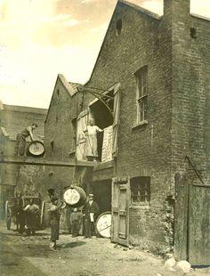 Alfred Hunt's Bone Works. Upper Fore Street. Lambeth SE11 1860