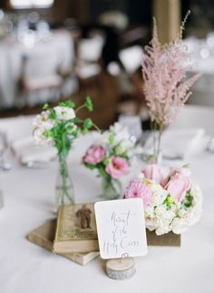 Sweet and simple centerpieces