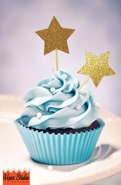 STAR Party Treat Toothpicks / Cupcake Toppers (Set of 12) - Pick Your Colors!