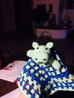 Crocheted cuddle cloth