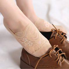 Moda Mujer Lace Antiskid Invisible barco calcetín verano fino transpirable  corto tobillo calcetines Calcetines 4eb76254571
