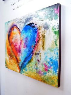 Decorate your home with unique love paintings & heart paintings available for sale at Ivan Guaderrama Art Gallery. You can also choose from heart paintings on canvas! Heart Painting, Heart Art, Christian Art, Painting Inspiration, Unique Art, New Art, Painting & Drawing, Art Projects, Canvas Art