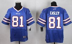 Buffalo Bills 81 Marcus Easley Royal Blue Home Stitched NFL Elite Jersey