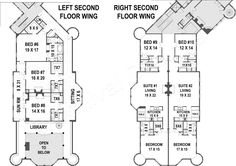 Balmoral House Plan - Best Selling Floor - House Plan - Second Floor Plan (wings) | Balmoral