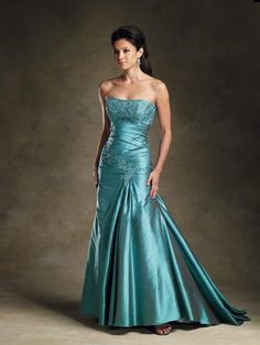 Rina di Montella is well known for their couture mother of the bride dresses, formal evening gowns and special occasion dresses, like this exquisite turquoise dress, Style #R1909.