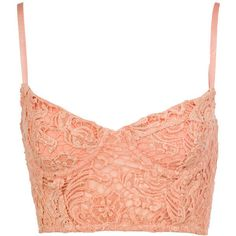 Peach Laced Bralet ($13) ❤ liked on Polyvore featuring tops, shirts, bralets, bustier, peach top, vest tops, bralette tops, lace up front top and bralet tops